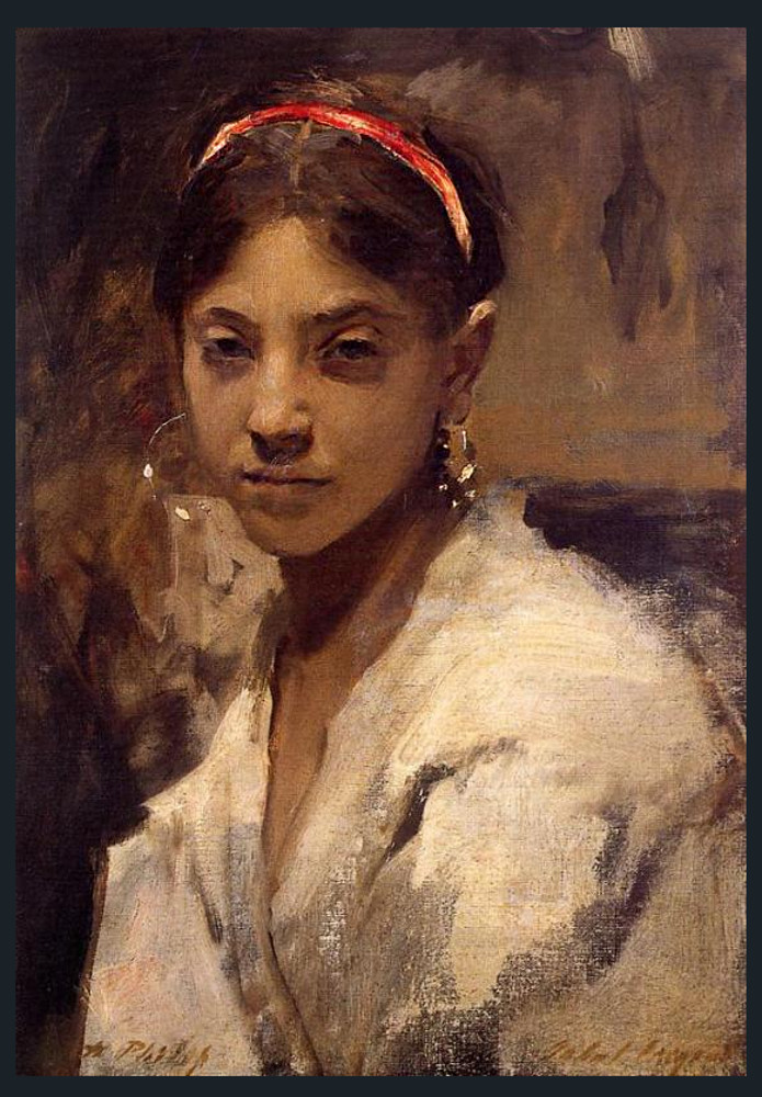 From Wikipedia, the free encyclopedia, Rosina Ferrara (1861–1934) was an Italian girl from the island of Capri,[1] who became the favorite muse of American expatriate artist John Singer Sargent. Captivated by her exotic beauty, a variety of 19th-century artists, ...