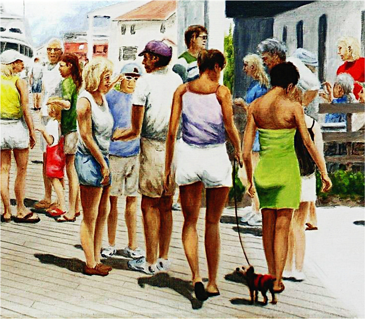 Beach/shore II Boardwalk Beaufort Dock (detail). Fine Art Painting, original oil on linen, 24' x 50', $2000, $18 to $24, medium-size prints. I used to come here during times when I visited my daughter on Emerald Isle... Free downloads, wallpaper, ‬‎GrlFineArt. Fine art work. For fine art decor, ‪‎fineart beach, shore...