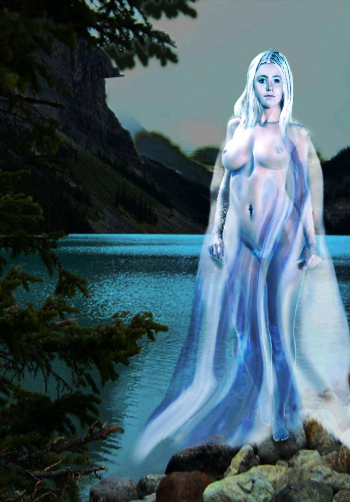 Original Multimedia Digital Art. Female Nude Goddess Lady Of The Lake... an original digital fine art piece. Paintings and prints, landscapes/seascapes, boats, sea and shore, abstracts, nudes, female nudes; ... Original fine art work by G. Linsenmayer.