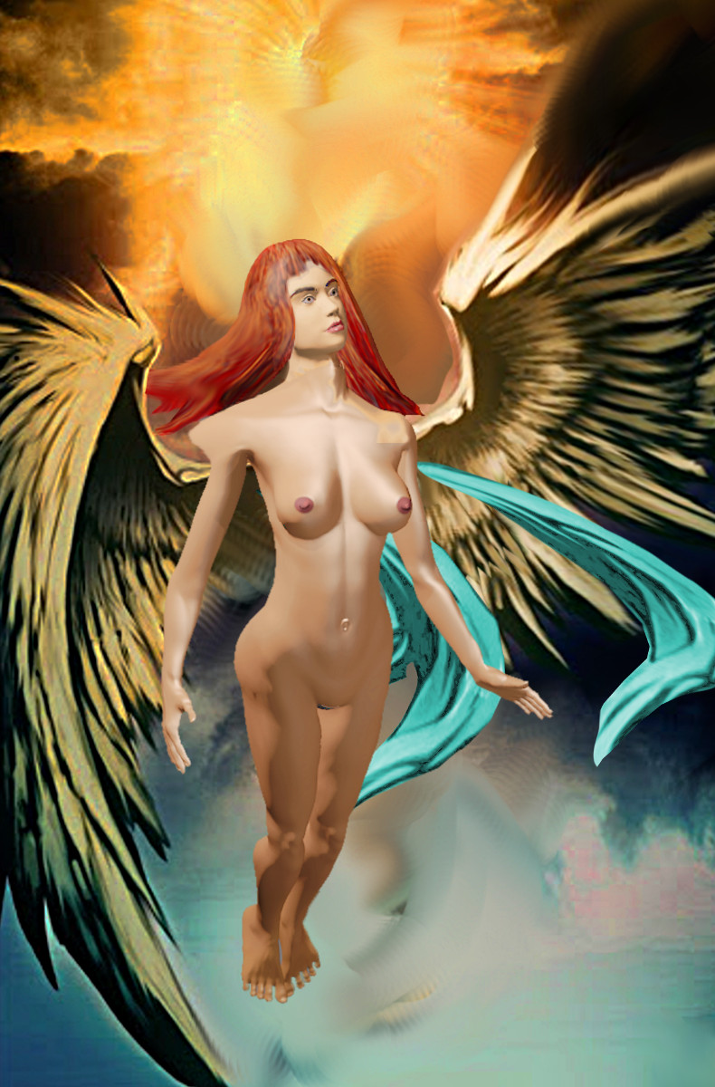 Fantasy Space Goddess With Wings. $20 to $30, medium-size prints, free downloads. Fine art work nudes paintings figures figurative, #GrlFineArt. ... Paintings and prints, nudes, female nudes...