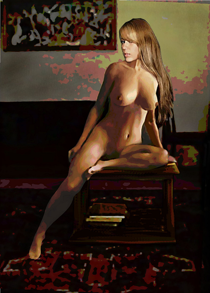 Fine Art Female Nude Jess Sitting 2b3 - Original Digital Image - original fine art work by G. Linsenmayer