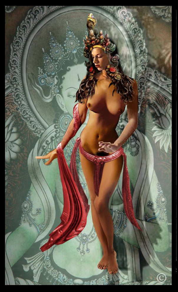 JEAN as the GODDESS TARA ... an original digital fine art piece. $18 to $24, medium-size prints, <originals...>. Free downloads, wallpaper. Fine art work nudes paintings figures figurative, ‬#‎GrlFineArt. She represents virtues of success in work and achievements, compassion, Tara is sometimes shown and celebrated as dancing ... ‎art‬‬ ‎fineart nudes ‎painting‬ ‎painting‬s prints ...
