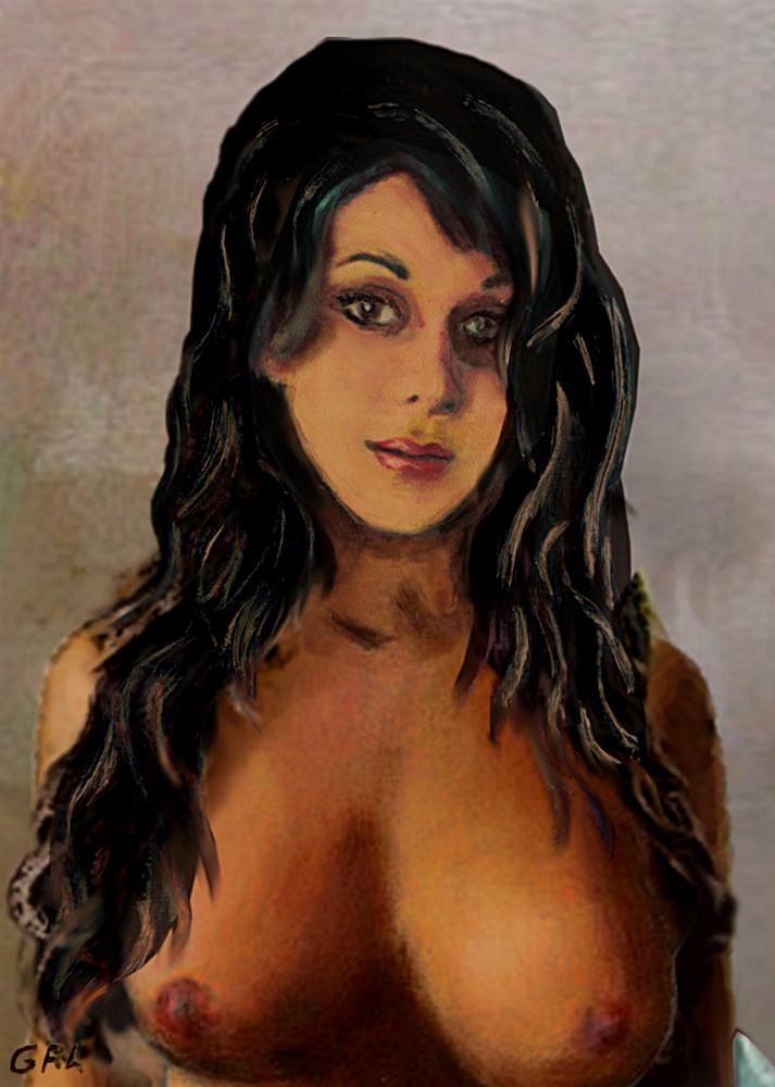 An original fine art nude portrait of Jean... - original fine art work by G. Linsenmayer