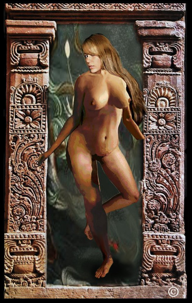 ... original fine art female nude, Jess, as a celestial Maiden - original fine art work by G. Linsenmayer