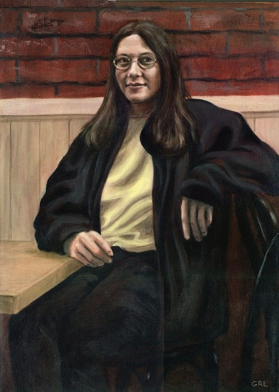 Portrait of Jamie; oil on linen, Frederick, Maryland; Olde Town Tavern.