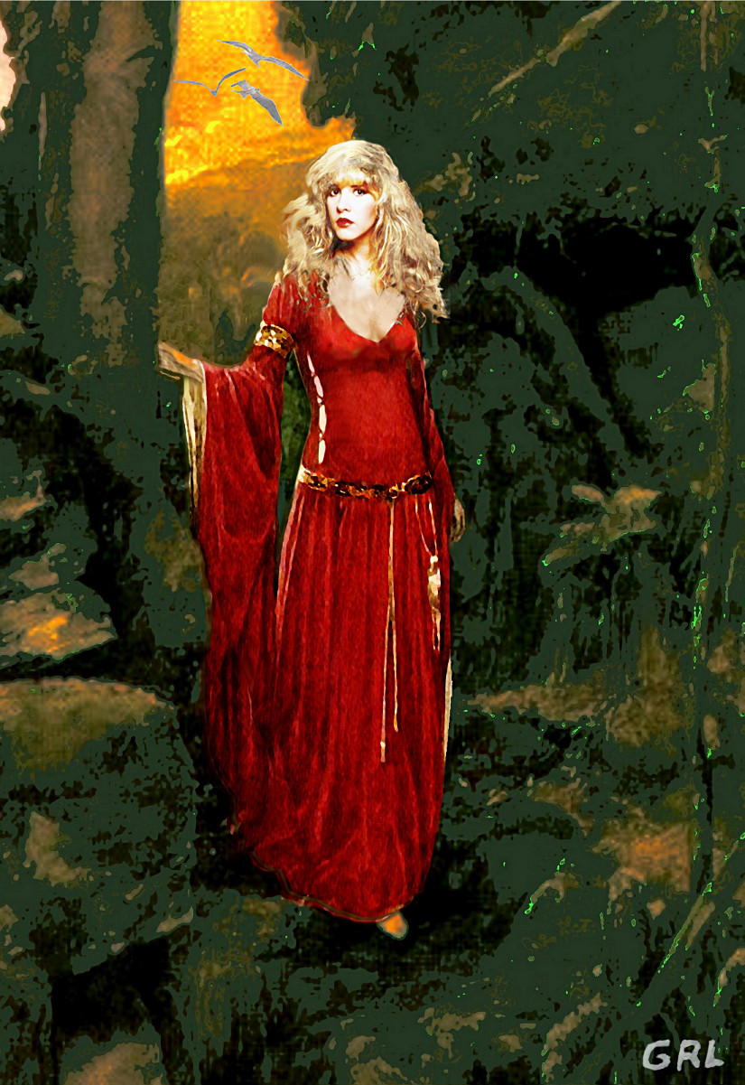 Stevie Nicks as Rhiannon... fine art portrait; $20 to $30, medium-size prints, free downloads.  ...Stevie Nicks as Rhiannon, in a traditional-modern style. Lots of legend here, you can find it all on the internet... Multimedia classical traditional modern acrylic oil ‪‎painting‬s. ‬‎GrlFineArt ‪‎art ‪‎fineart ‪‎painting, room decor, ‪‎painting‬s, prints, portraits, figures, figurative