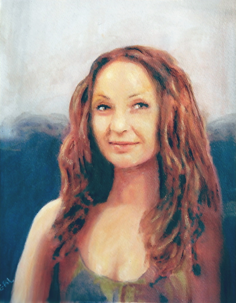 Fine                                 Art Original Painting Jen Mona Lisa 2012                                 - original fine art work by G.                                 Linsenmayer - #ART #PORTRAIT #PAINTING                                 #GrlFineArt