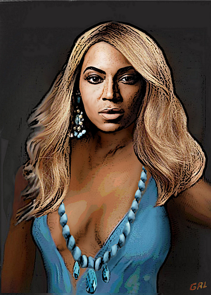 Traditional-Modern Contemporary Original Painting Beyonce In Turquoise. Original multimedia fine art work, paintings. $20 to $30 small, medium-size, prints. Free downloads. ‬‎GrlFineArt. Original Fine Art Digital Portrait, Beyonce, in turquoise; I liked the color. Art, fine art, original art, fine art work, fine art decor, ‪‎fineart; figures, figurative. Multimedia classical traditional modern acrylic oil ‪‎painting‬ ‪‎painting‬s prints.