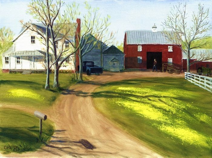 Virginia Farm Countryside Spring. $560, 24 x 18 inches; $20 to $30, medium-size prints, free downloads. ... near Manassas, Virginia, driving south of Leesburg, Virgina, during a trip to North Carolina. GrlFineArt. Fine art work, fine art decor, fineart; landscapes, seascapes, boats, figures, nudes, figurative art, flowers, still life, digital abstracts. Multimedia classical traditional modern acrylic oil painting paintings prints.