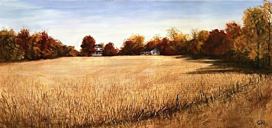 Autumn                                         Field Southern Maryland.                                         Paintings and prints,                                         landscapes/seascapes, boats, sea                                         and shore, abstracts, nudes,                                         female nudes... Original fine                                         art work by G. Linsenmayer.