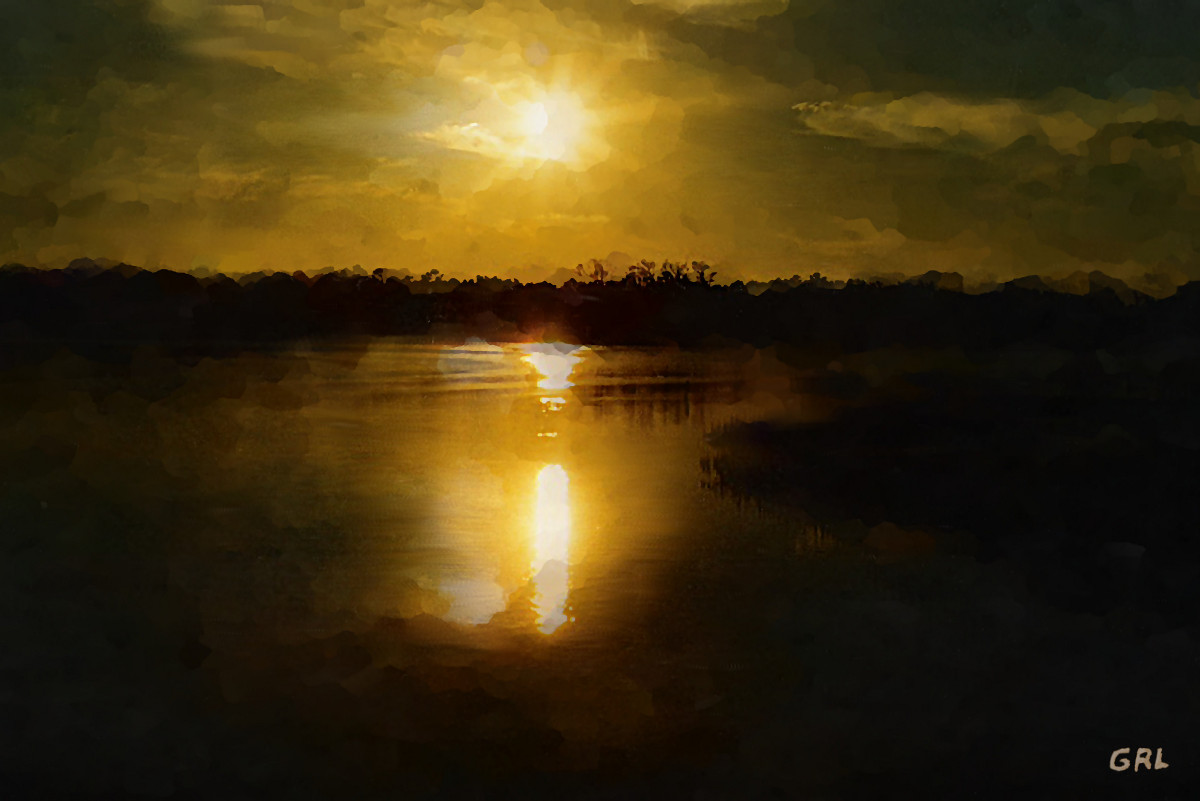 Fine Art Digital Painting Sunset Weeki Wachee                 Florida. An original fine art digital painting of sunset                 on a lake near Weeki Wachee, Gulf Coast, Florida.                 ...sunrise sky and quiet lake. $18 to $24, medium-size                 prints. Free downloads, wallpaper, landscapes, scenes,                 florida. ‬‎GrlFineArt, art, ‪‎fine art, multimedia                 classical traditional modern acrylic oil ‪‎painting‬                 ‪‎painting‬s prints.