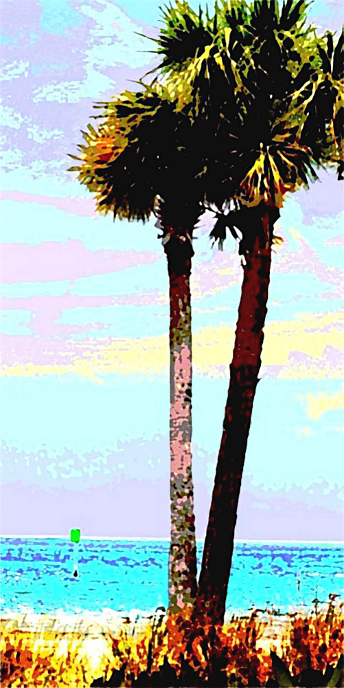 Palms Original Fie Art Digital Image Gulf Coast Florida. Paintings and prints, landscapes/seascapes, boats, sea and shore, abstracts, nudes, female nudes; ... Original fine art work by G. Linsenmayer.